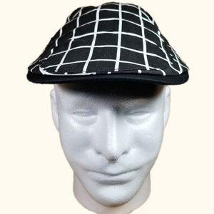 Men's Black And White Flat Cap